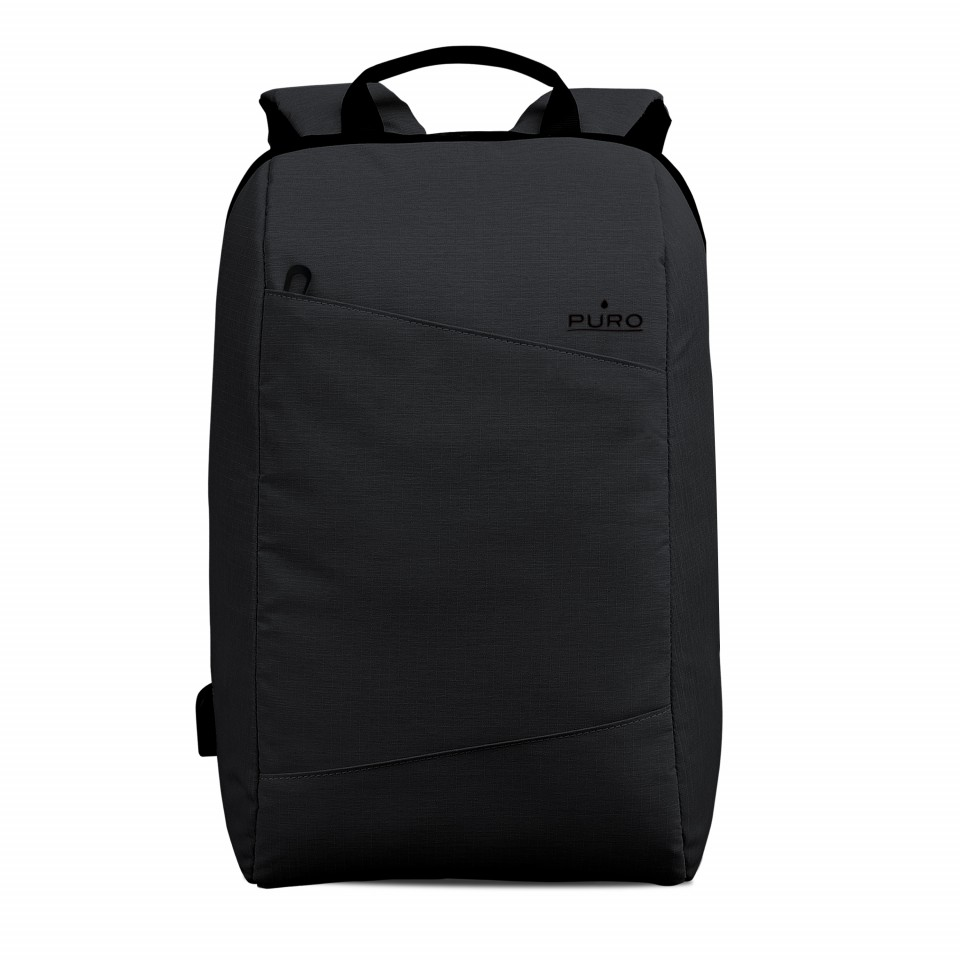 Puro Byday backpack 15.6 with external USB port Μαύρο