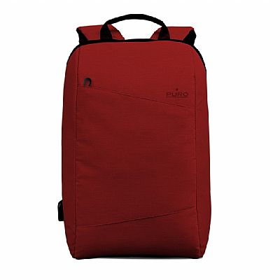 Puro Byday backpack 15.6 with external USB port Κόκκινο