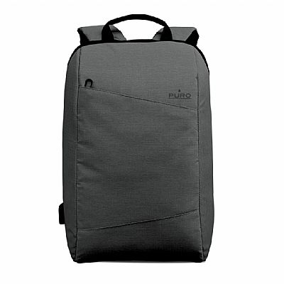 Puro Byday backpack 15.6 with external USB port Γκρί