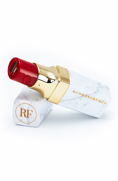 Richmond & Finch Lipstick Powerbank 2600mah Λευκό