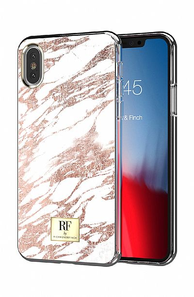 Richmond & Finch Rose Gold Marble iPhone X / XS