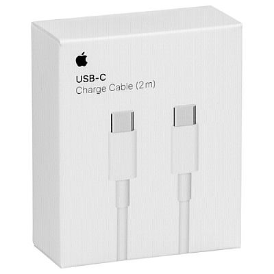 Apple USB-C to USB C Cable (2m) MLL82ZM/A Λευκό