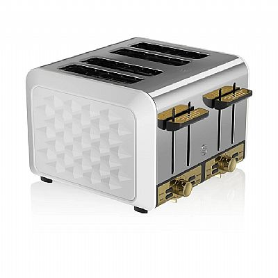 Swan 4 Slice Metal Toaster – 'σπρο